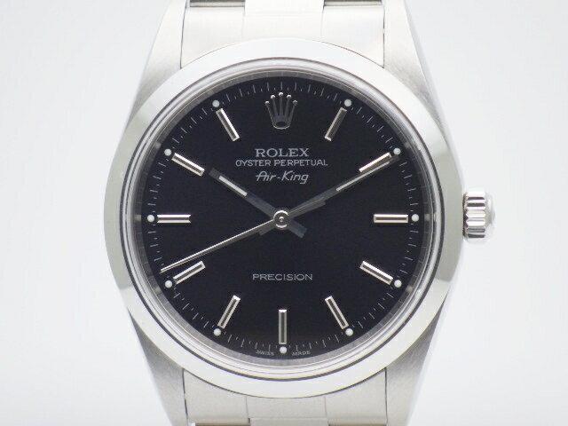 【送料無料】ROLEX ロレックス エアキング 14000M オートマチック ステンレス【438】【中古】【大黒屋】