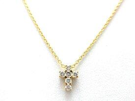 【送料無料】Van Cleef & Arpels ヴァンクリーフ&アーペル 貴金属・宝石 クロアミニチュールネックレス 750YG(イエローゴールド) ダイヤモンド 2.8g【432】【中古】【大黒屋】