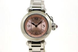 【送料無料】Cartier カルティエ 時計 ミスパシャ W3140008 ピンク文字盤 クオーツ ステンレススチール レディース 【432】【中古】【大黒屋】