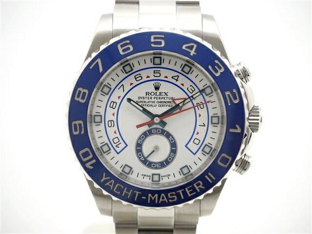 【送料無料】ROLEX ロレックス 時計 ヨットマスター2 116680 SS ステンレス 白文字盤 ホワイト 2015年 並行 自動巻き 【472】【中古】【大黒屋】