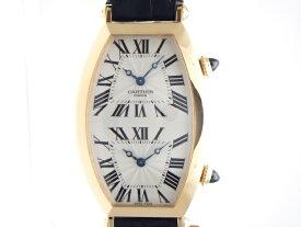 【送料無料】Cartier カルティエ 時計  トノーXL 2タイムゾーン W1547851 ピンクゴールド/革  手巻き時計 メンズ 【432】【中古】【大黒屋】