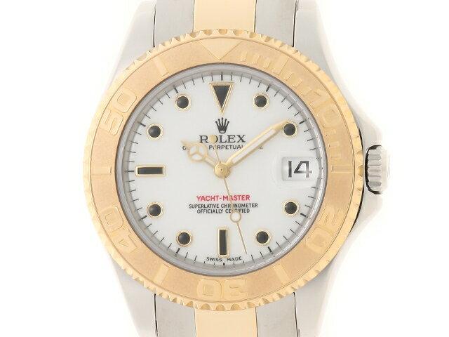 【送料無料】ROLEX ロレックス 時計 ヨットマスター 168623 K番(2002年並行) YG/SS ホワイト 自動巻き ボーイズ 【436】【中古】【大黒屋】