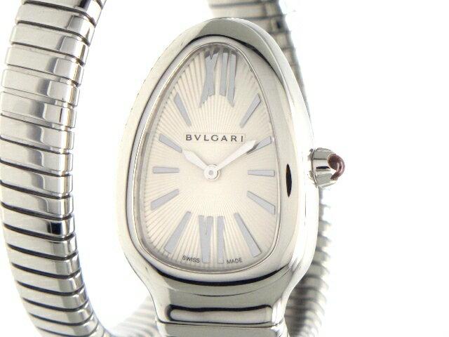 【送料無料】BVLGARI ブルガリ 時計 セルペンティ SP35S SS シルバー文字盤 クオーツ レディース 【436】【中古】【大黒屋】