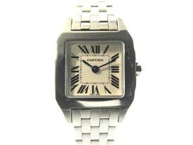 【送料無料】Cartier カルティエ 時計 レディース サントス ドゥモアゼルSM W25064Z5 SS ステンレススチール クオーツ 電池 ホワイト【432】【中古】【大黒屋】