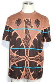 LOUIS VUITTON ルイヴィトン LV Tシャツ メンズ L ブラウン コットン チャップマンブラザーズ キリン RM171JNGHBY94W【472】【中古】【大黒屋】