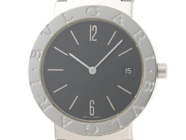 【送料無料】BVLGARI 時計 ブルガリ ブルガリ BB33SS クオーツ 黒文字盤 【439】【中古】【大黒屋】