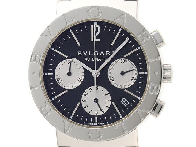 【送料無料】BVLGARI 時計 ブルガリ ブルガリ オートマチック BB38SSCH  黒文字盤 クロノグラフ【460】【中古】【大黒屋】