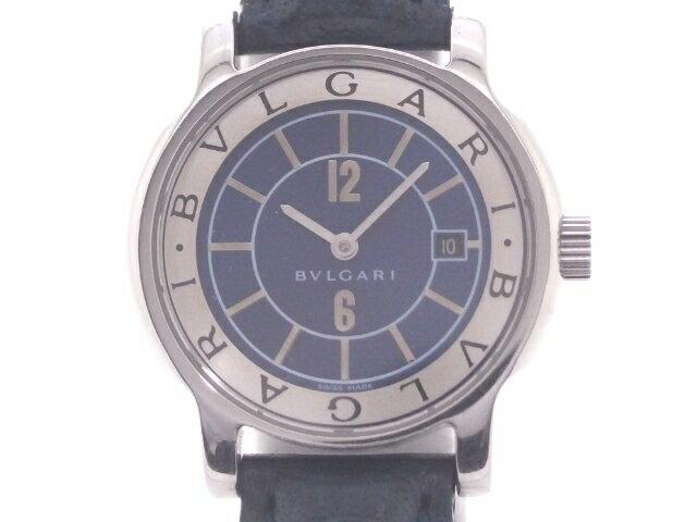 BVLGARI ブルガリ 時計 ソロテンポ ST29S クオーツ SS/革 【430】【中古】【大黒屋】