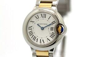 【送料無料】Cartier カルティエ バロンブルーSM W69007Z3 YG/SS 女性用クォーツ時計【473】【中古】【大黒屋】