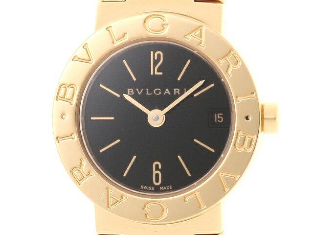 【送料無料】BVLGARI ブルガリ 時計 ブルガリ ブルガリ BB23GGD クオーツ イエローゴールド ブラック文字盤【472】【中古】【大黒屋】