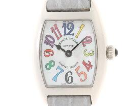 【送料無料】FRANCK MULLER 時計 トノーカーベックス・カラードリームス クオーツ シェル文字盤 レディース 革/SS【200】【中古】【大黒屋】