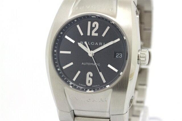 【送料無料】BVLGARI ブルガリ 時計 オートマチック エルゴン ブラック EG35S メンズ 【430】【中古】【大黒屋】