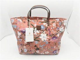 be4f7338443f GUCCI グッチ 花柄 キッズ トートバッグ キャンバス ピンク【410】【中古】【