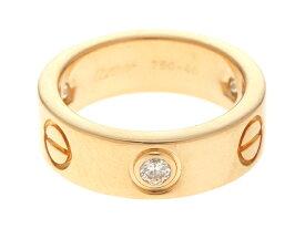 【送料無料】Cartier 貴金属・宝石 ラブリング ラブRハーフ イエロゴールド ダイヤ 46号 【433】【中古】【大黒屋】