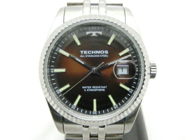 TECHNOS テクノス 時計 クオーツ T9655SA/ステンレス/メンズ【411】【中古】【大黒屋】