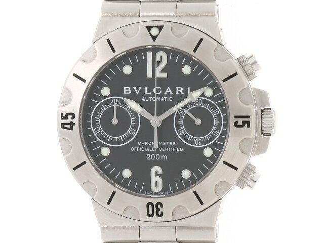 【送料無料】BVLGARI ブルガリ 時計 スクーバ オートマチック ステンレス 【440】【中古】【大黒屋】