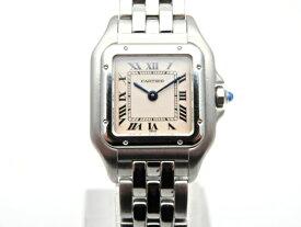 【送料無料】Cartier 時計 パンテールSM W25033P5 クオーツ SS アイボリー文字盤【439】【中古】【大黒屋】