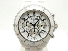 1a5dc7f22d27 [送料無料]CHANEL シャネル 時計 J12クロノ オートマチック CE セラミック ホワイト H1007【431