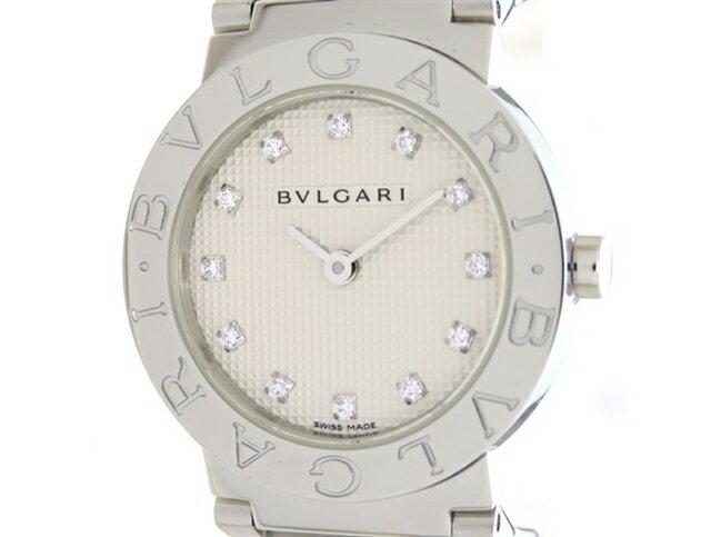 【送料無料】BVLGARI ブルガリ 時計 ブルガリブルガリ 26mm BB26SS ステンレススチール 白文字盤 12Pダイヤ クォーツ 生産終了モデル 57.2g 【205】【中古】【大黒屋】