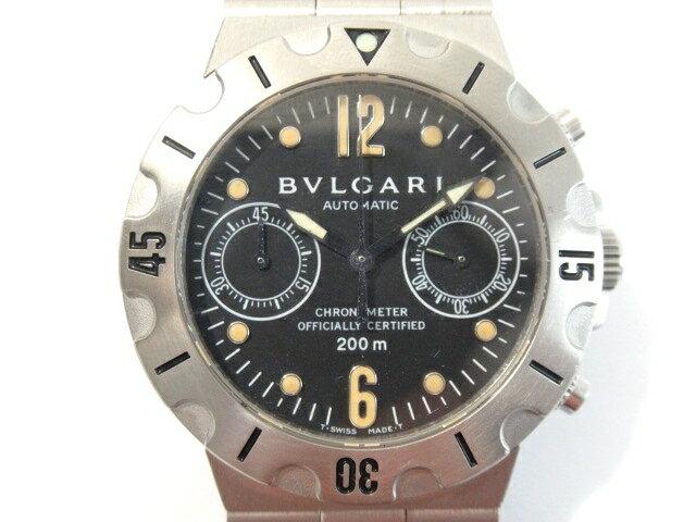 【送料無料】BVLGARI ブルガリ 時計 オートマチック スクーバ クロノ【413】【中古】【大黒屋】