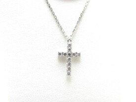 【送料無料】Cartier カルティエ ホワイトゴールド ダイヤモンド クロス ネックレス WG D 3.1g【430】【中古】【大黒屋】