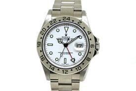 【送料無料】ROLEX ロレックス 時計 エクスプローラーII 16570 ホワイト SS K番台 オートマチック メンズ 【472】【中古】【大黒屋】