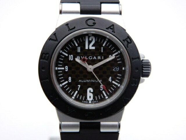 BVLGARI 時計 アルミニウム・カーボン AL29TA クオーツ アルミニウム ラバー【439】【中古】【大黒屋】