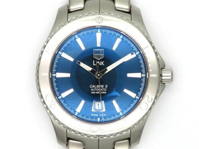 【送料無料】TAG HEUER タグホイヤー 時計 リンク・キャリバー5 WJ201C SS オートマチック ブルー メンズ【438】【中古】【大黒屋】