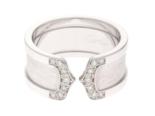 【送料無料】Cartier (カルティエ)C2リング ホワイトゴールド×ダイヤモンド 14.2g【431】【中古】【大黒屋】