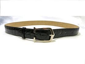 【送料無料】Cartier カルティエ ベルト リバーシブルベルト クロコ ブラック 80〜90cm【472】【中古】【大黒屋】