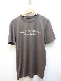 LOUIS VUITTON ルイヴィトン Tシャツ メンズXS コットン ブラウン 【432】【中古】【大黒屋】