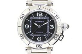 【送料無料】Cartier カルティエ 時計 パシャ シータイマー W31077M7 ブラック文字盤 ステンレススチール 自動巻き メンズ 【200】【中古】【大黒屋】