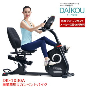 DAIKOU リカンベントバイク ダイコー直営店 エアロ フィットネスバイク 準業務用 電動マグネット式 静音 高強度 DK-1030A 背もたれシート 専用マットプレゼント 美脚 トレーニングマシン おすす