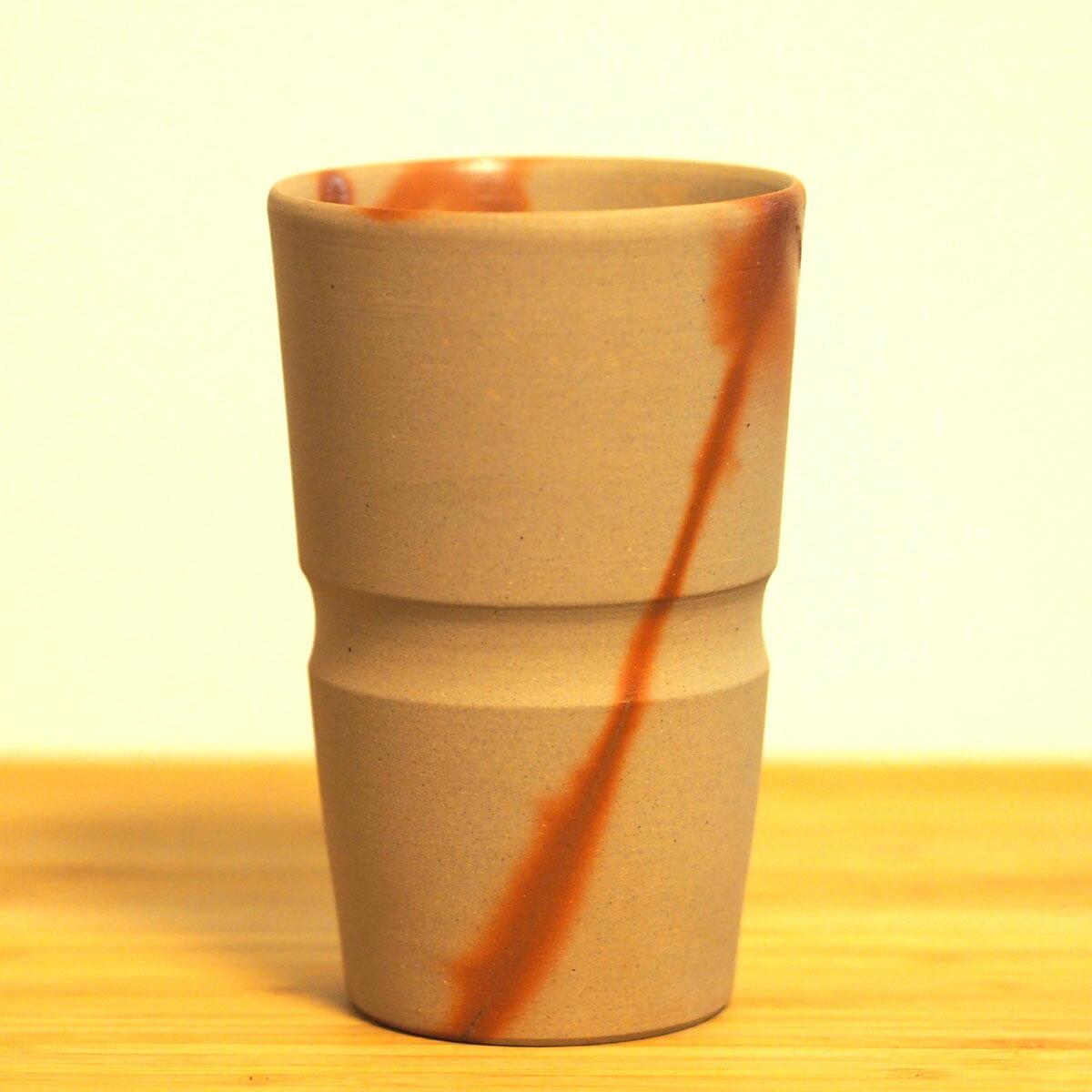 備前焼 ビアマグタンブラー 小川弘藏作【父の日・誕生日・長寿祝い・敬老の日 等の特別な贈り物・お祝いとして】ビール焼酎麦茶コーヒー等に。ビアマグ・麦酒盃湯呑みにも【楽ギフ_のし】