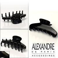 アレクサンドルドゥパリALEXANDREDEPARISヘアクリップブラックブランド髪飾り通販でお得♪