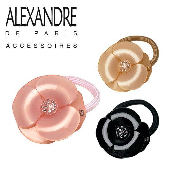 アレクサンドル ドゥ パリ カメリア ヘアゴムALEXANDRE DE PARIS 選べるカラー♪【楽ギフ_包装】 ブランド 髪飾り 通販 でお得♪