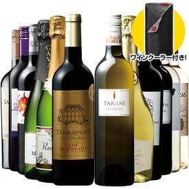 ポイント10倍!【ワインクーラー付き】世界飲み尽くし赤白泡バラエティ12本セット ワインセット 金賞 スパークリングワイン