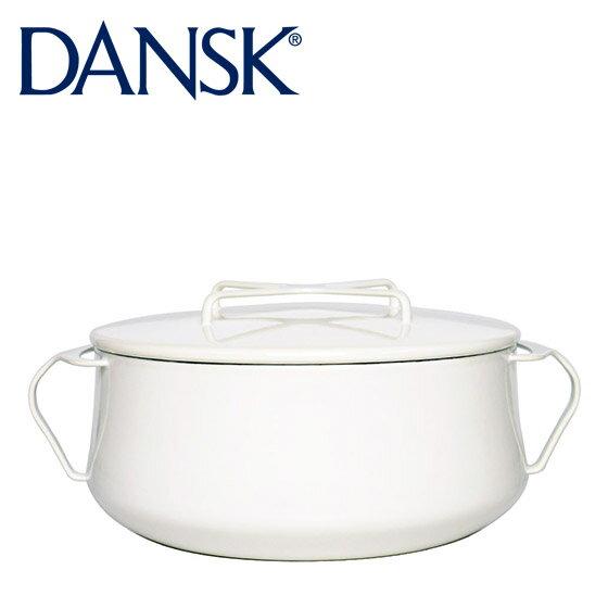 1円アイテム対象 DANSK ダンスク 両手鍋 18cm ホーロー 鍋 コべンスタイル 2 ホワイト 833299N 北欧 ギフト・のし可