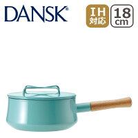 DANSK(ダンスク)ホーロー鍋コべンスタイル2片手鍋18cmティール833298N