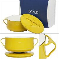 DANSKダンスク両手鍋18cmホーロー鍋コべンスタイル2イエロー2QT北欧デンマーク