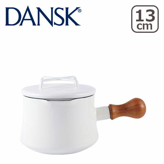 【Max1,350円OFFクーポン】DANSK ダンスク ソースパン 1QT ホワイト フタ付き 片手鍋13cm ホーロー 鍋 コベンスタイル 北欧ブランド ミルクパン ギフト・のし可