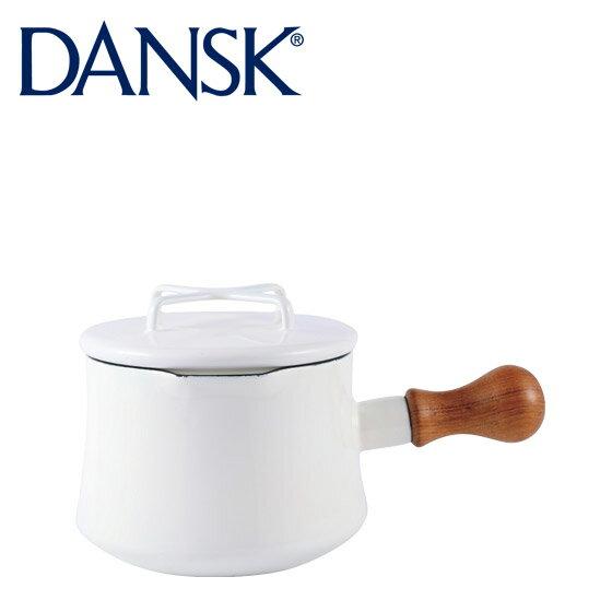 DANSK ダンスク ソースパン 1QT ホワイト フタ付き 片手鍋13cm ホーロー 鍋 コベンスタイル 北欧ブランド ミルクパン【楽ギフ_包装】【楽ギフ_のし宛書】
