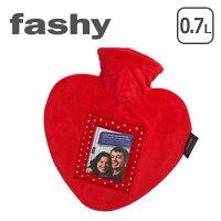 FASHY(ファシー)湯たんぽ/水枕レッドハートフォトフレーム付き0.7Lやわらか湯たんぽゆたんぽ