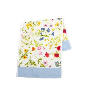 フェイラー ハンドタオル 37cm×80cm Flower Meadow ・ブリーズ(ライトブルー) FEILER Chenille Guest Towel ギフト・のし可
