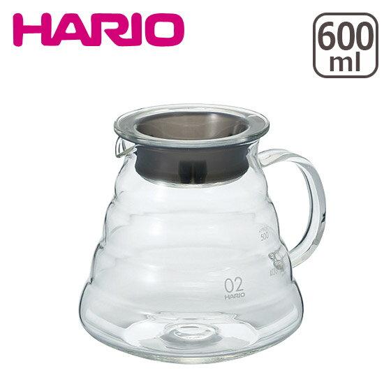【4時間5%OFFクーポン】HARIO(ハリオ)V60 レンジサーバー600 クリア(2-5杯用) XGS-60TB