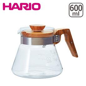 HARIO(ハリオ)コーヒーサーバー 600 VCWN-60-OV オリーブウッド 600ml