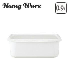 富士ホーロー Honey Ware ハニーウェア Konte 深型角容器 M リリーホワイト コンテ ギフト・のし可