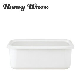 富士ホーロー Honey Ware ハニーウェア Konte 深型角容器 L リリーホワイト コンテ ギフト・のし可