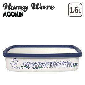 富士ホーロー 琺瑯 浅型角容器 L ムーミンポーセリンエナメルシリーズ MT-L Honey Ware ハニーウェア ギフト・のし可