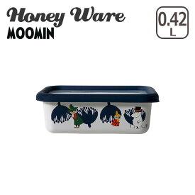 富士ホーロー 浅型角容器 S ムーミン&フラワーシリーズ 琺瑯容器 MTA-S Honey Ware ハニーウェア ギフト・のし可